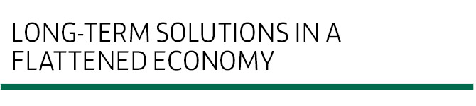 Long-term solutions in a flattened economy